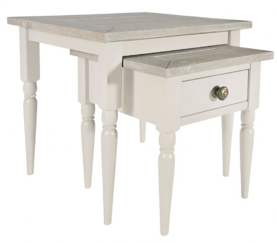 Lostwithiel Ivory Double Nest Of Tables - Special Order